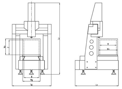 雷顿高精自动三坐标Metroking系列结构图